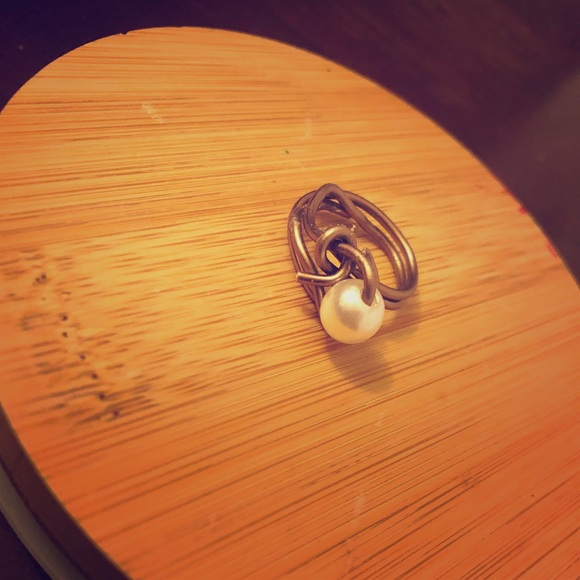 Jewelry - Copper and Pearl Wire Wrapped Ring